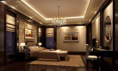 棕色欧式卧室装修效果图