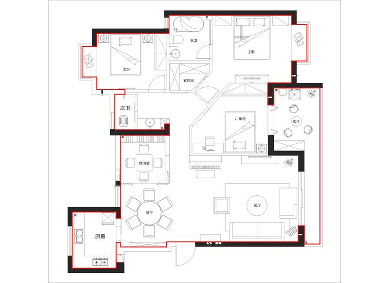 室内设计收费标准 1 按房屋内框面积计算