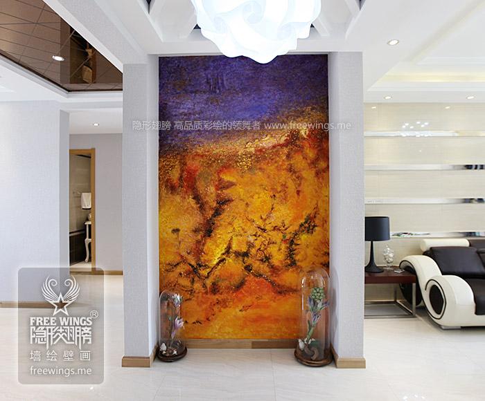 客厅玄关手绘墙