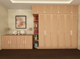 享自然环保衣柜定制 环保板材 品质保证 工厂直销价格一步到位