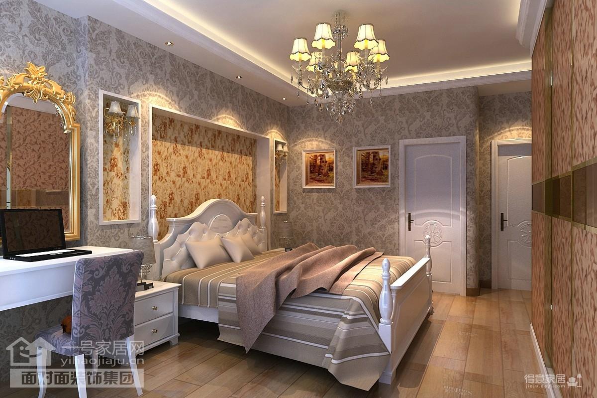 130平现代欧式三室两厅装修设计图装修效果图