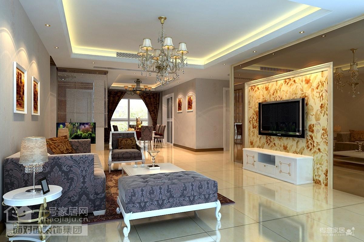 130平现代欧式三室两厅装修设计图
