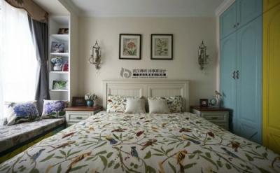 卧室背景墙吊顶飘窗窗帘鞋柜电视柜餐桌餐边柜吧沙发橱柜衣柜 床阳台
