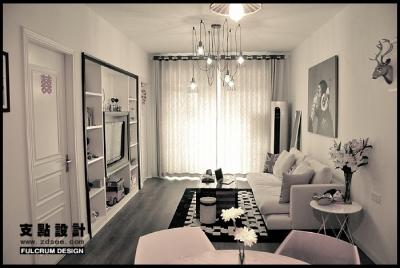 客厅榻榻米背景墙吊顶飘窗吧台窗帘鞋柜电视柜酒柜