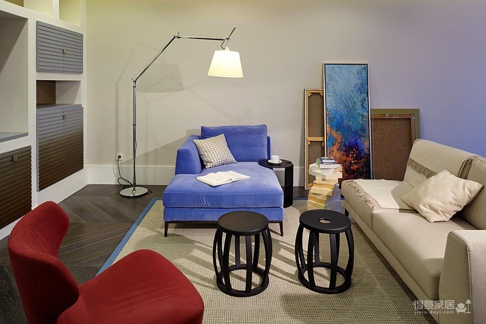 组-大胆设计蓝色调美家装修效果图