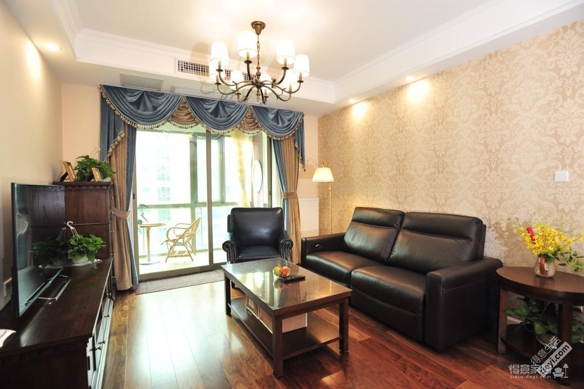 组—美式简欧混搭客厅篇装修效果图