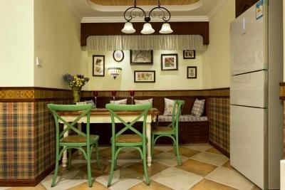 智能家电美式餐厅餐桌装修效果图_智能家电美式餐厅_.