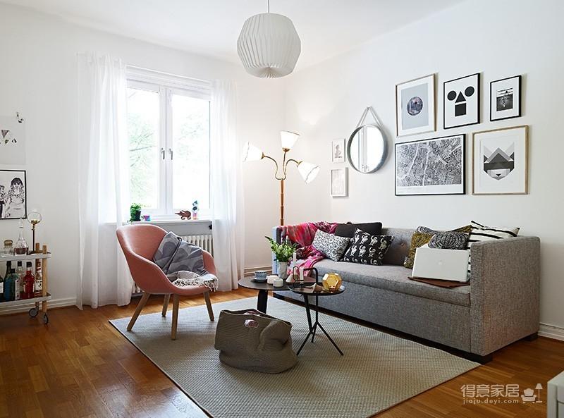 北欧风的简装单身公寓图片