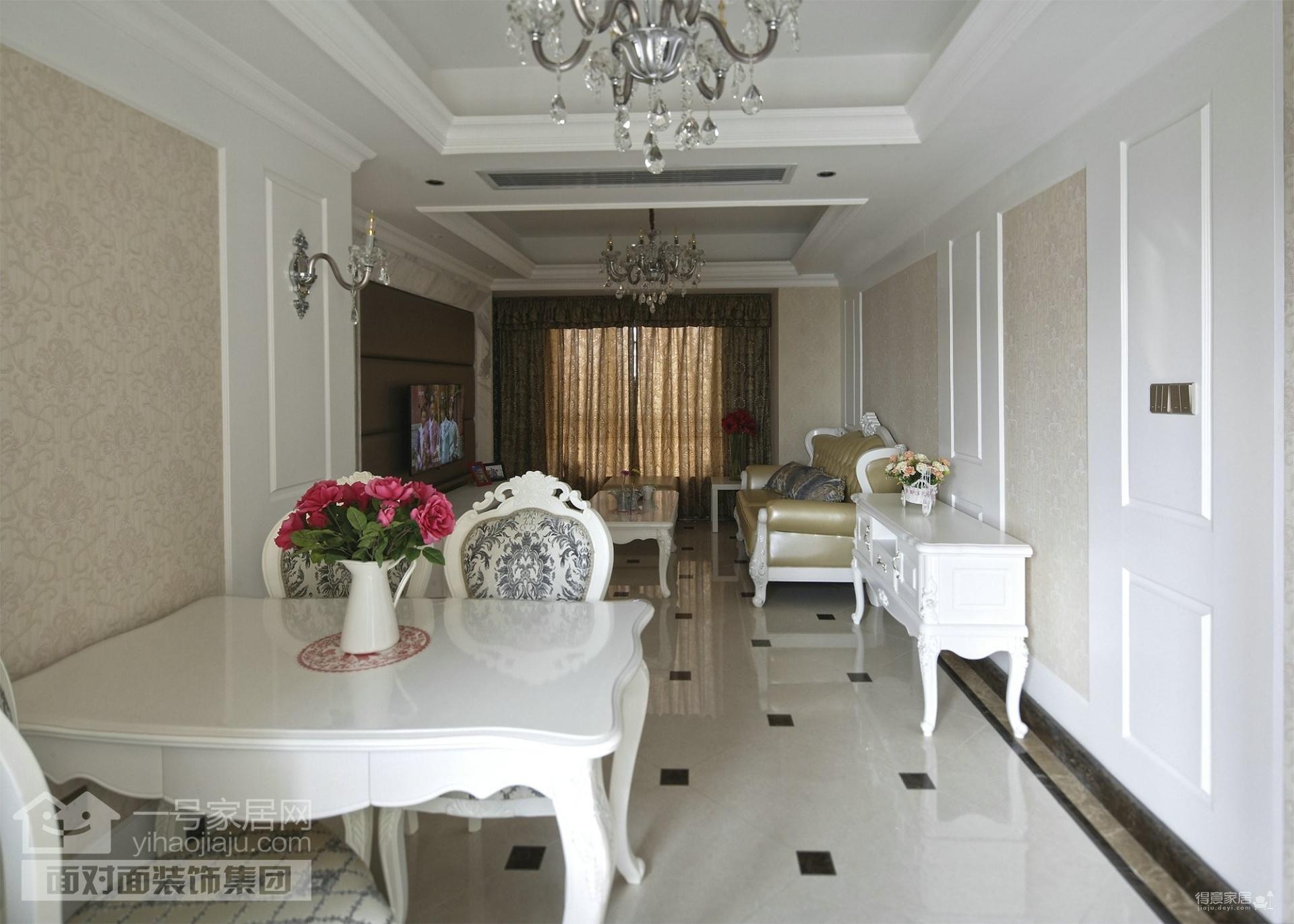 广电兰亭都荟-91平-现代欧式-三居室完工实景