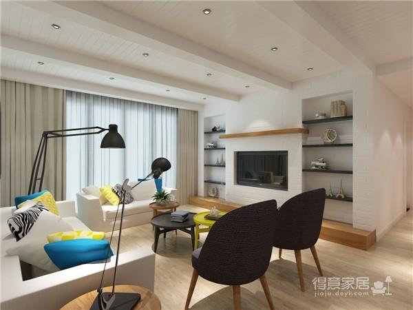 清新可爱黑白系主题客厅