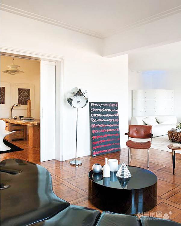 黑白配 现代感十足的欧式简约装修全房实景