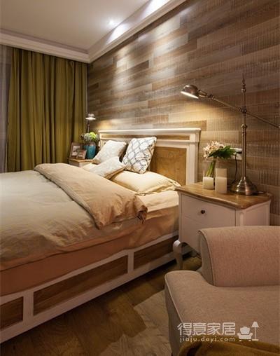 薄荷绿原木混搭美式家装修效果图
