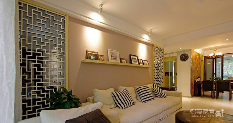 金色与暖黄调夹丝玻璃家装装修效果图_得意家居装修