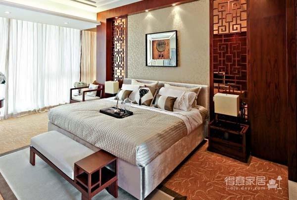 大华南湖三房新中式风格效果图装修效果图_得意家居图片