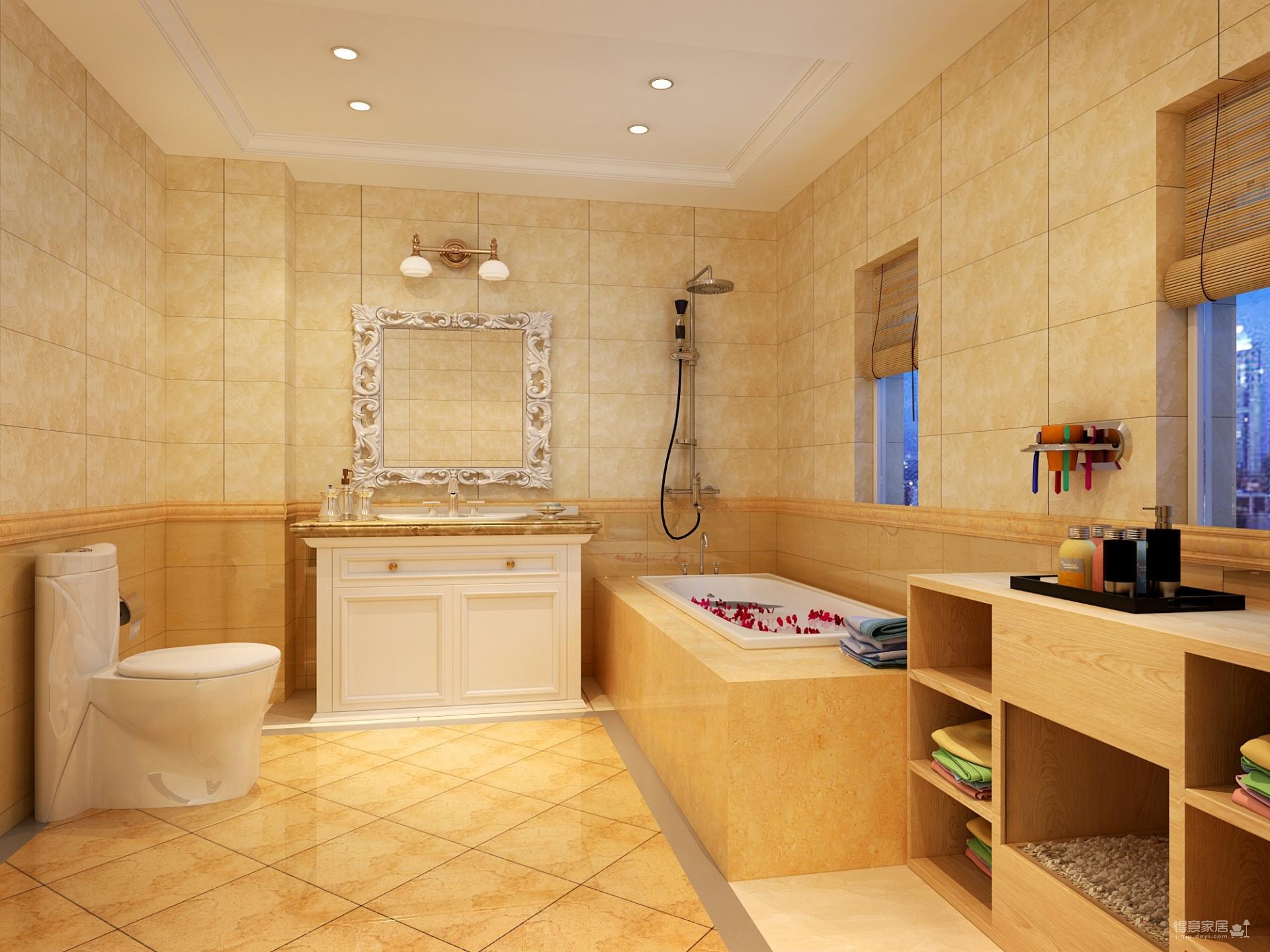 简欧式风格装修图片厕所