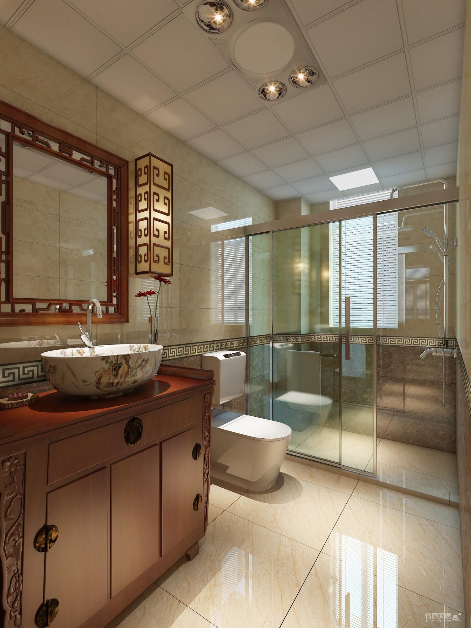 110平三房中式风格装修效果图