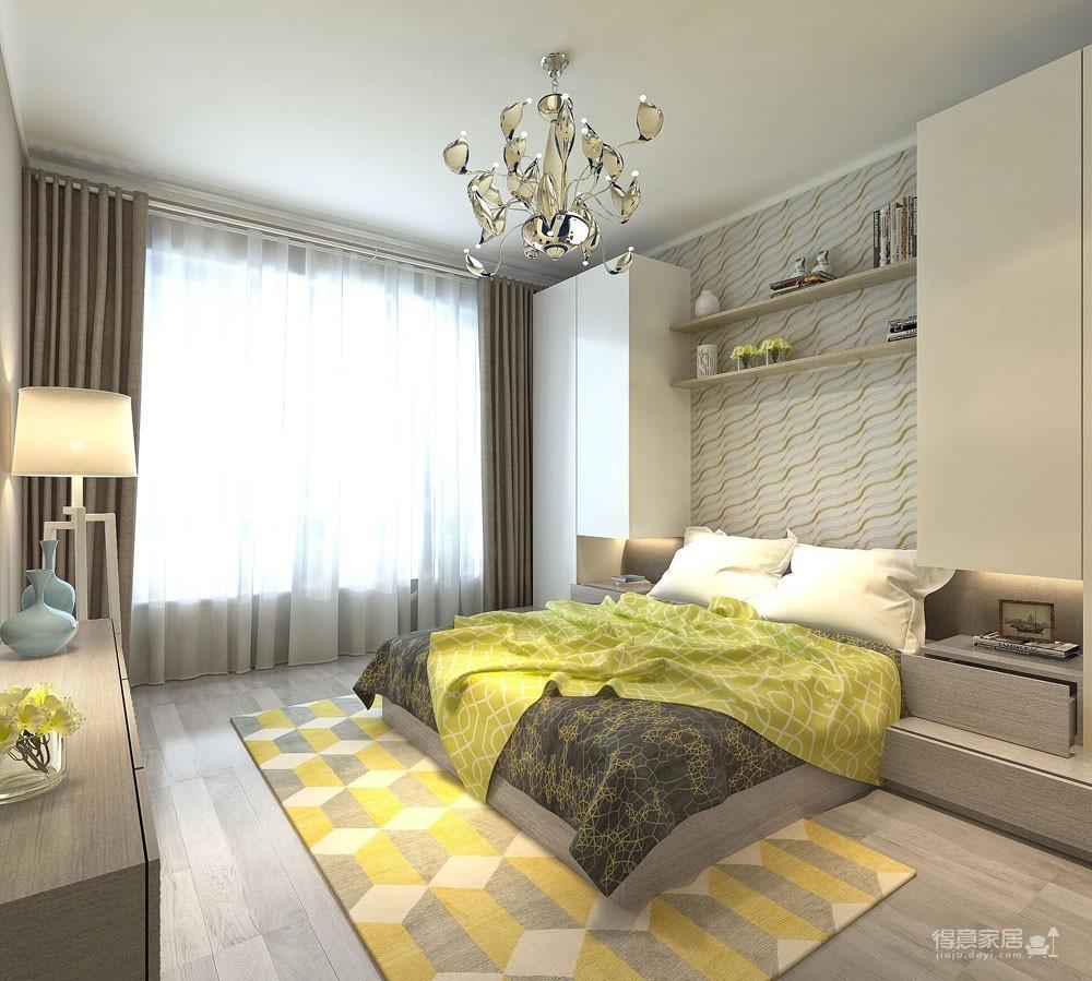 120平现代简约风格效果图装修效果图_得意家居装修