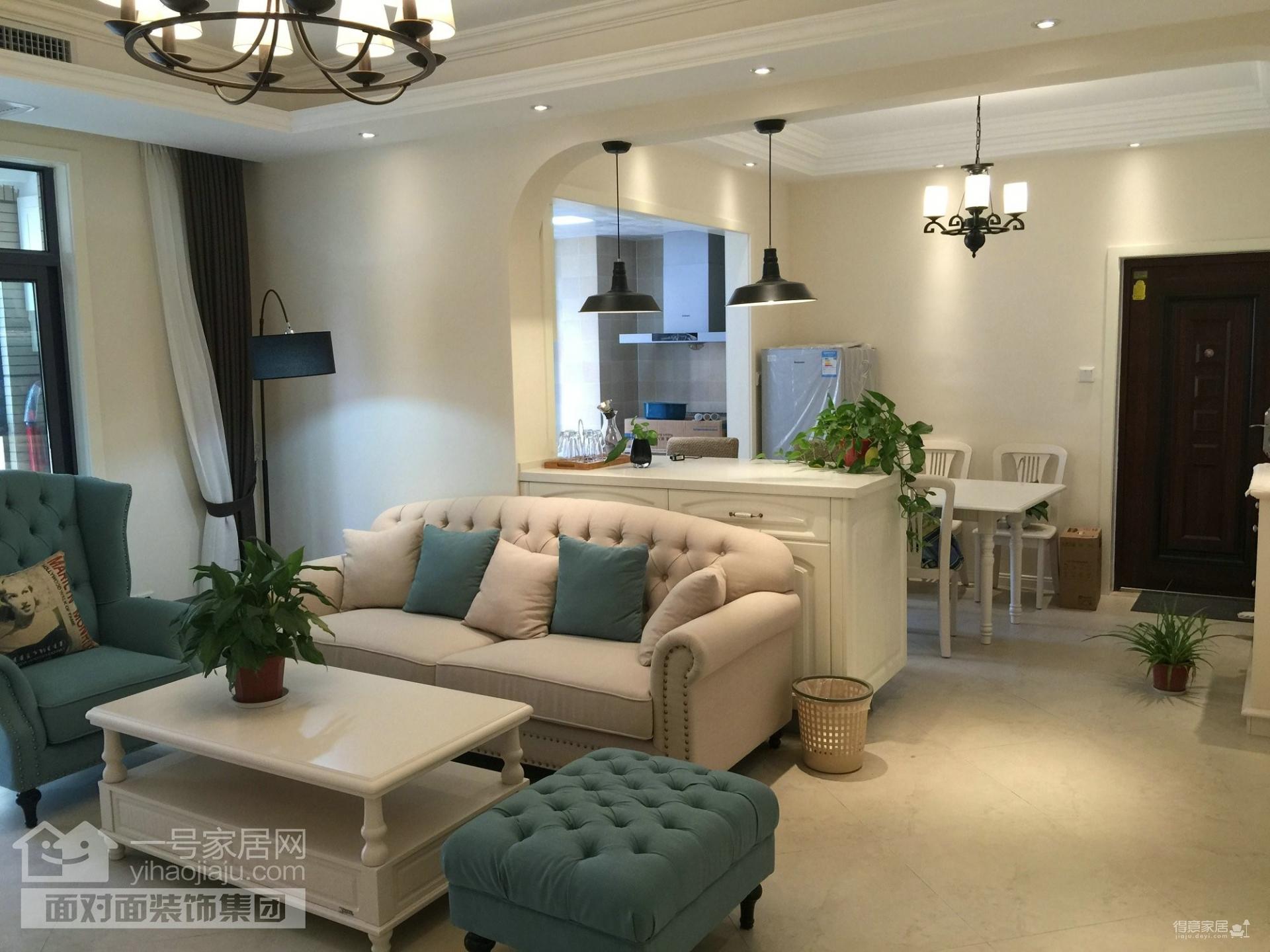 富强天合园-93平-混搭-两室两厅(实景图)装修效果图