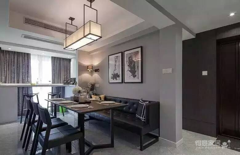 115平黑白灰现代简约风格装修效果图_得意家居装修