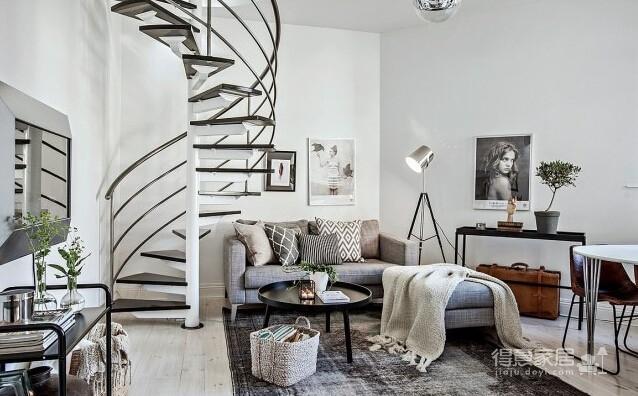 北欧风复式温馨小公寓装修效果图