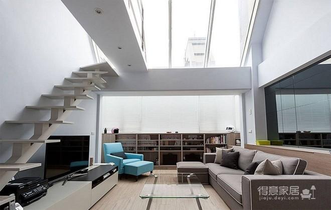 106平简约新复式loft装修效果图_得意家居装修图库
