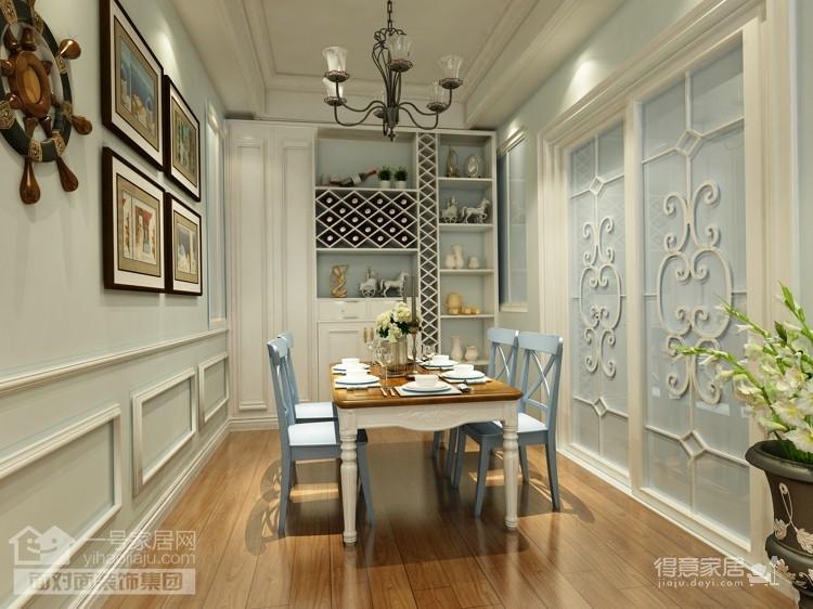 两室两厅90平装修图_丽岛2046-90平-田园风格-两室两厅(客餐厅效果图)装修效果图 ...