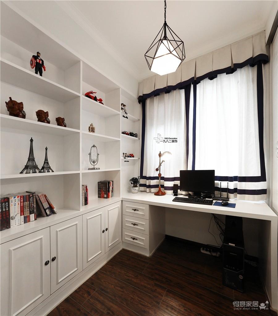 联发九都府卧室书房及厨房实景图装修效果图