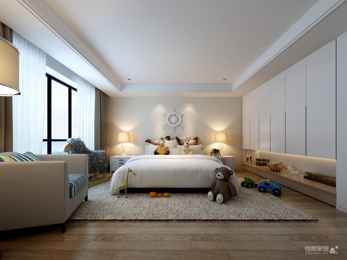 120平极简风三居室装修效果图