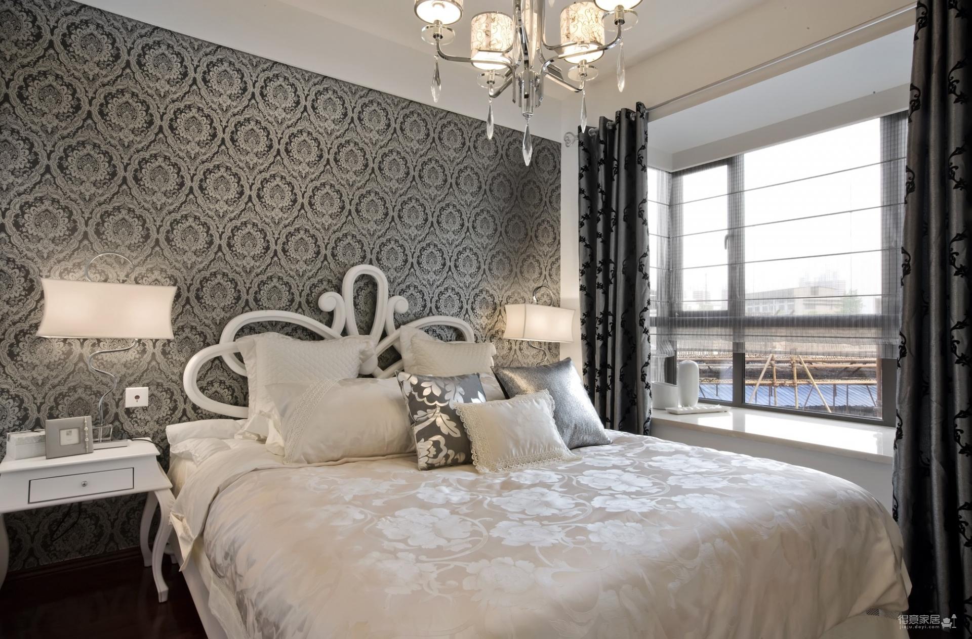 110平-三房-黑白灰欧式风格
