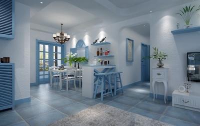 现代简欧的95平米客厅装修设计图