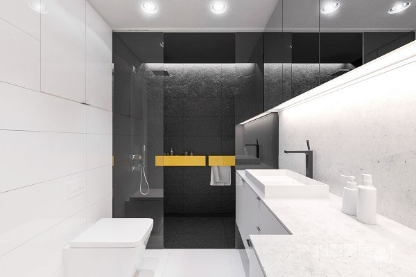 黑白色打造极致视觉体验装修效果图_得意家居装修图库