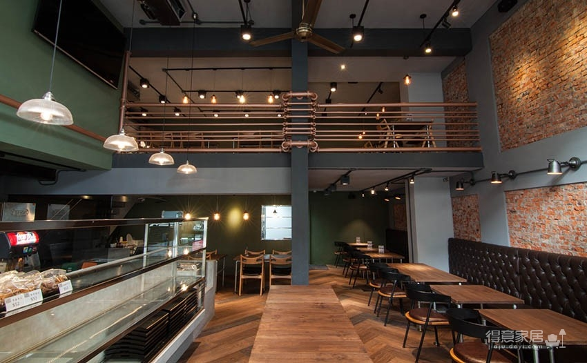 工装咖啡店loft 工业风鉴赏装修效果图_得意家居装修