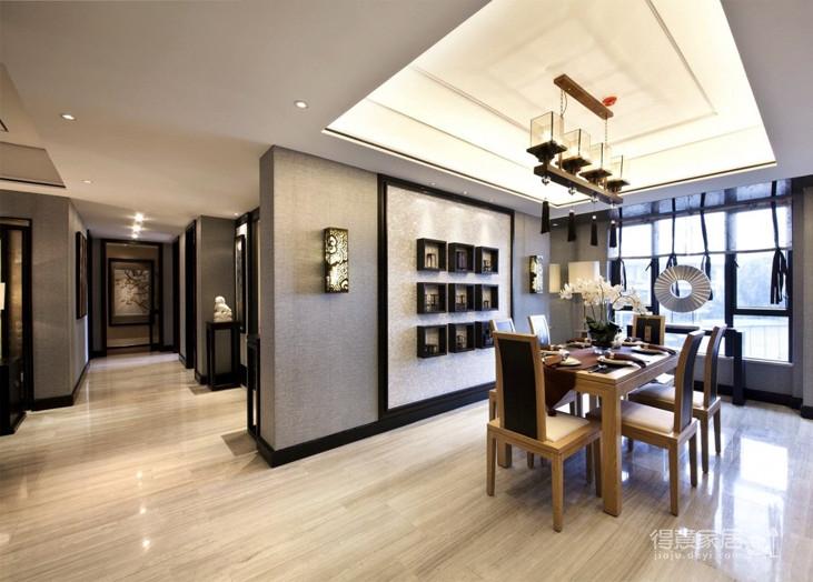 新中式大平层装修效果图_得意家居装修图库_得意家居网