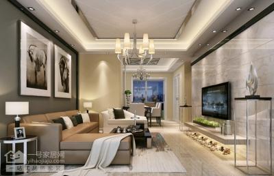 远洋世界-87平两房两厅现代简约风格