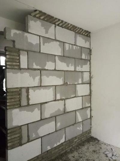 盘龙城天居园砌墙工艺