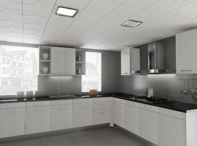 铝扣板安装简单,质地轻盈,常常被用于办公室,厨房,卫生间的吊顶装修中