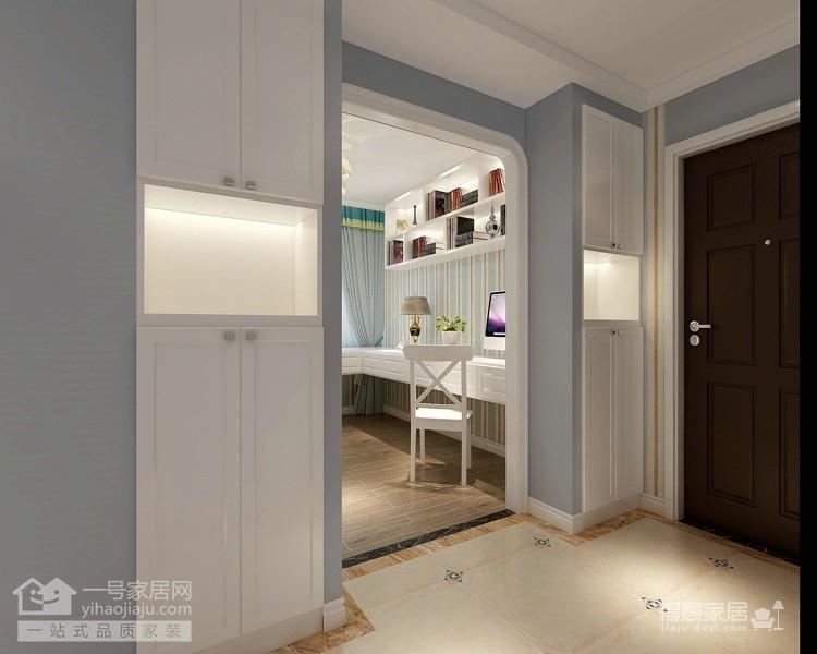 光谷自由城120平米田园风格三居室装修案例装修效果图