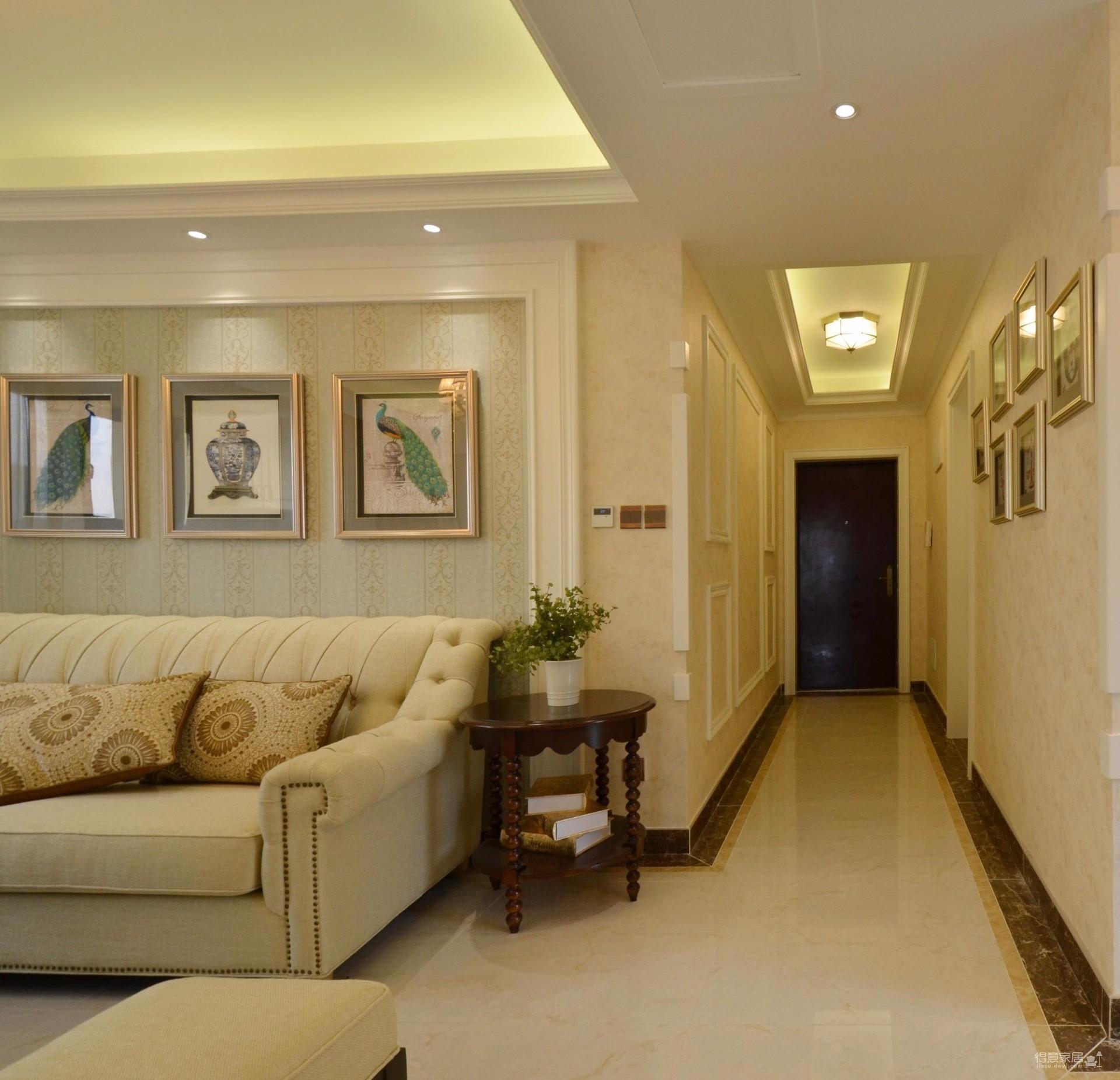 110平暖色三居室装修效果图_得意家居装修图库_得意