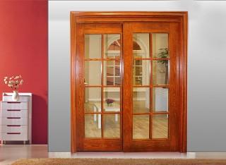 雅客居实木推拉门玻璃门