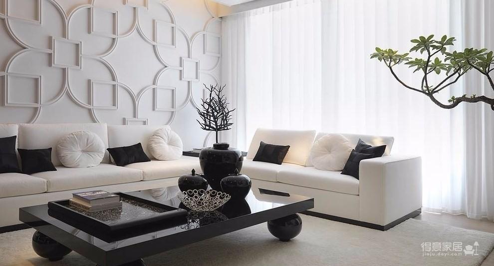 黑白后现代主义装修效果图_得意家居装修图库_得意
