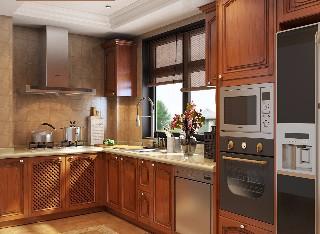 德利凯希武汉整体厨房橡木橱柜定做欧式实木原木设计装修定制厨柜