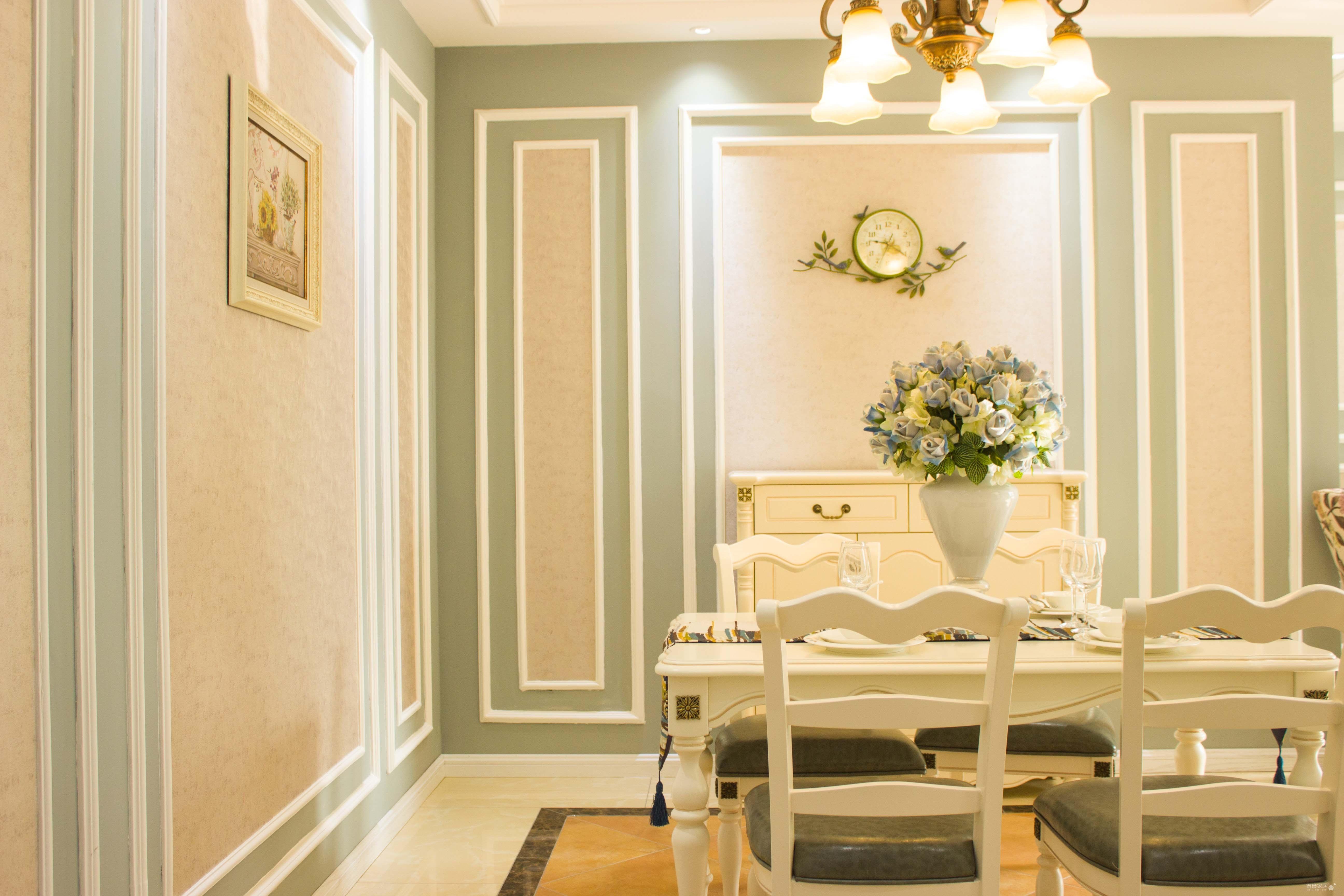 法式蓝色小清新装修效果图_得意家居装修图库_得意
