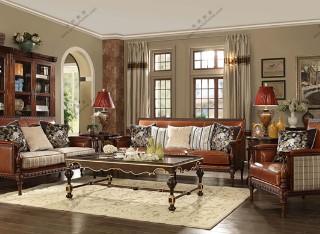 纯正美式沙发组3+2+1