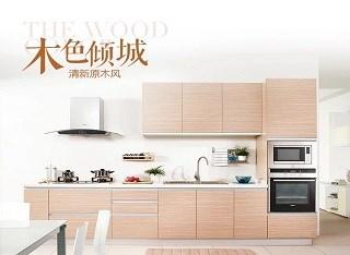【木色倾城】现代简约风-爱格板橱柜-整体厨房橱柜定做