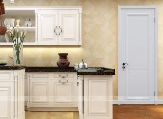 TATA木门 简欧卧室门 实木复合木门 油漆套装定制门 ZX032白混油
