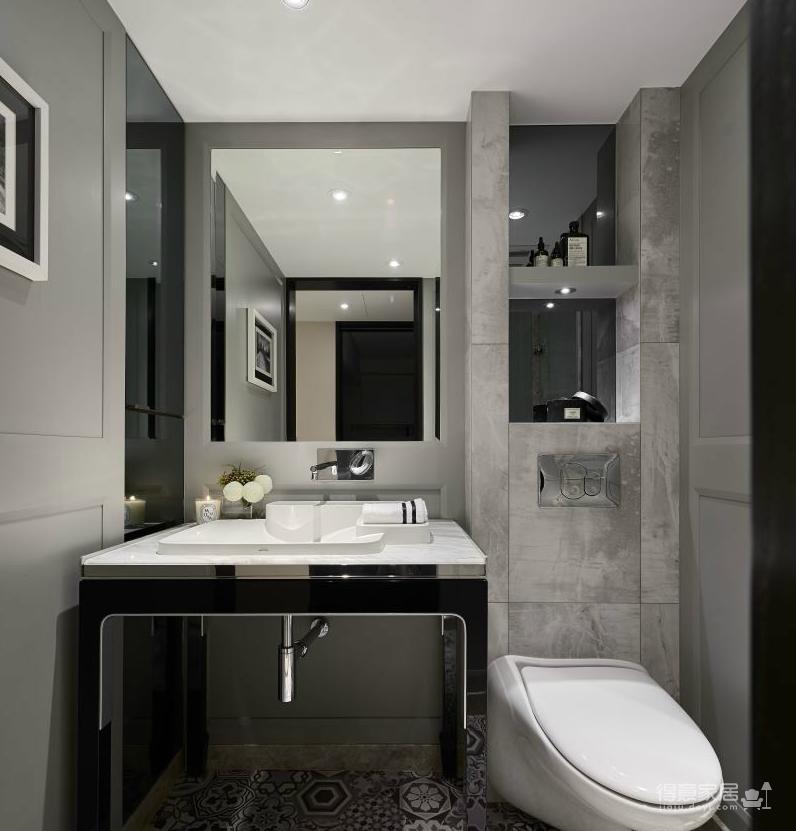 通过黑白灰的色调,打造一种摩登现代,而不失优雅的空间.