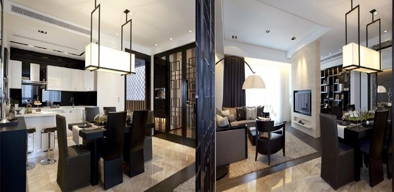 后现代经典搭配 ,非传统的手法创造一种理性的室内环境