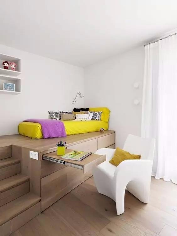这样装卧室,床和衣柜都省了!
