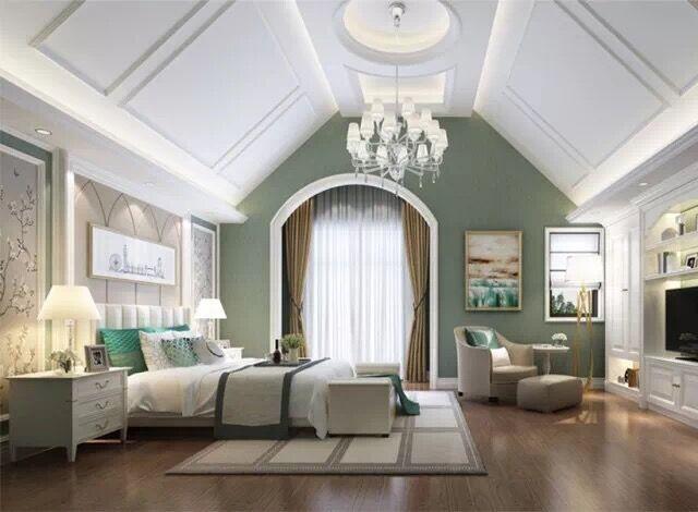 本期设计作品 推荐 欧式风格 优雅、高贵、浪漫 整个方案的设计 无论是在元素的搭配、色彩的选择 或给人视觉、感官的呈现上 都逃脱了传统风格的承重堆砌 改以更加时尚低调的浪漫空间 搭配许多高雅华贵的元素以及极致优雅的质感 这就是新时代的欧式风格   主客厅 客厅的开放式布局 将奢华与大气展现的淋漓尽致 白色的护墙及天花吊顶蔓延 雕花纹路渲染装饰凸显精致  主卧室 卧室作为主人的私享空间 舒适性与柔和感无疑是最为重要的 褐色与米色在空间中相互映衬 让整个空间看上去舒适温馨   次卧室 墙色大多采用白色、淡色为