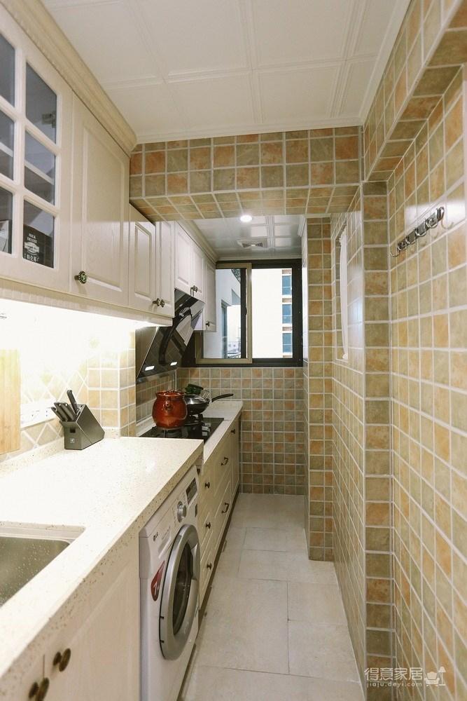 14w装两室两厅简美复古小蜗居装修效果图_得意家居